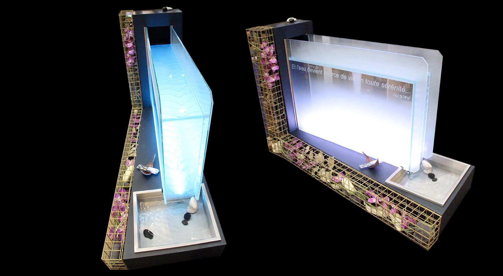 Ambiance lounge pour cette fontaine River Zen en édition limitée