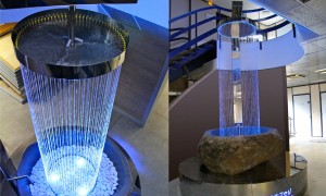 Fountain designed by Olivier Clavel and located in a bathroom showroom