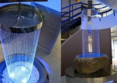 Fontaine imaginé par Olivier Clavel située dans un showroom dédié aux salles de bain