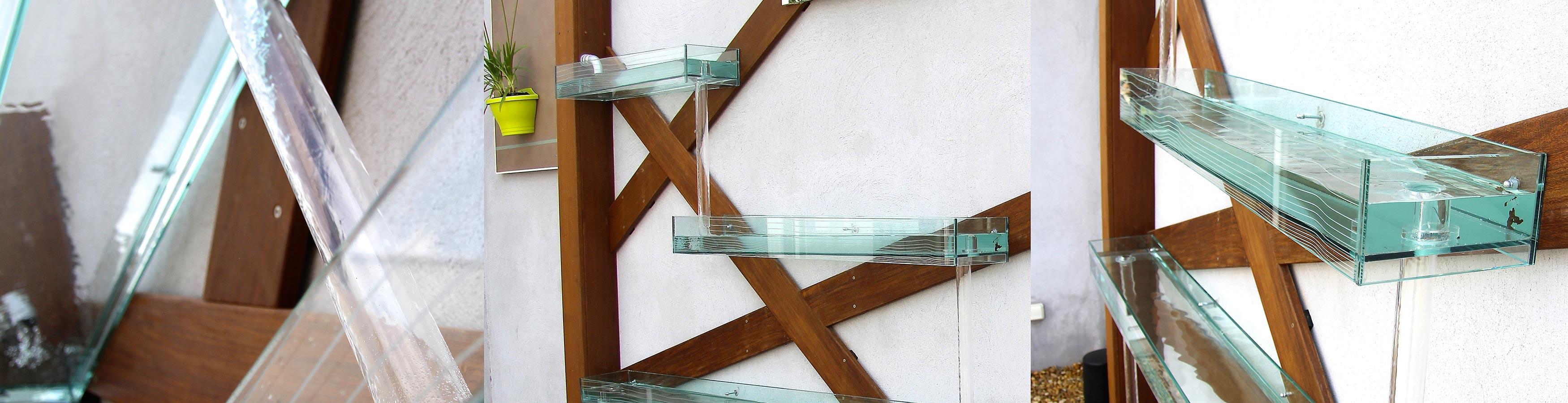 Rivière en verre murale